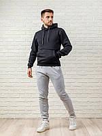 Мужской спортивный костюм - темно-серый верх и серый низ (MD-3)