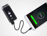 Супер мощный Велосипедный фонарь ROCKBROS BR1800+Power Bank (1800LM, 5200mAh, USB, IPX6, Дальний/Ближний свет), фото 6