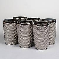 """Стеклянные стаканы """"Серебряный жемчуг"""" 12,5 х 8 см, комплект 6 шт."""