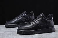 Зимние мужские кроссовки 31735, Nike Air AF1 (мех), черные, [ 41 44 45 ] р. 41-26,0см. 44 (T7-D)