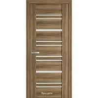 Двері міжкімнатні Віва Валенсія Новий Стиль ПВХ зі склом сатин 60, 70, 80, 90