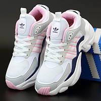 Женские кроссовки в стиле Adidas Consortium Naked Magmur Runner, белый, розовый, серый, Вьетнам 39 (КД-4)