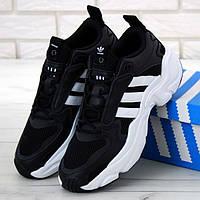 Мужские кроссовки в стиле Adidas Consortium Naked Magmur Runner, черно-белый, Китай 41 (КД-4)