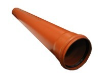 Труба для наружной канализации 110x3000х2,7mm (оранжевая)