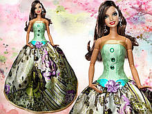 Одежда для кукол Барби. Бальное платье