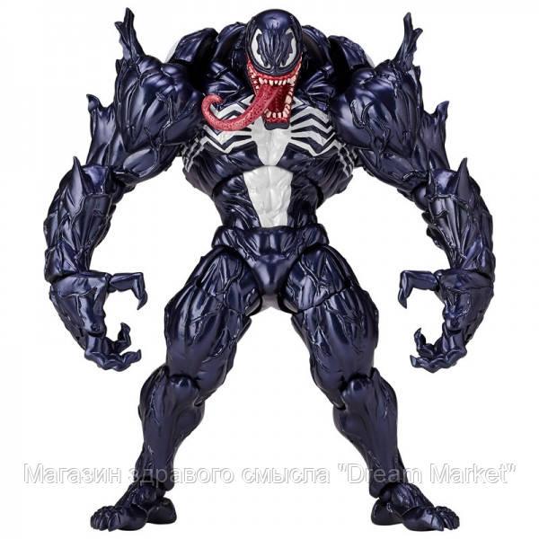 Игровая Коллекционная шарнирная Фигурка Злодей Веном: Спайдермен Марвел, высота 15 см - Venom Spiderman Marvel
