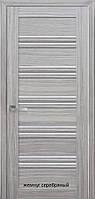 Двері міжкімнатні Італійсько Віченца С1 Новий Стиль ПВХ зі склом графіт 60, 70, 80, 90