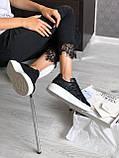 Женские кеды Alexander McQueen PA321 черные, фото 9