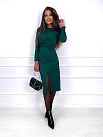 Жіноча приталені замшеве плаття Belle, фото 1