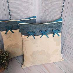 Наволочки для декоративної подушки 40*40. Комплект 2 шт