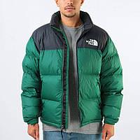 Зеленая зимняя мужская куртка The North Face до -25 зимние куртки пуховики мужские теплая РЕПЛИКА1в1 зелёная