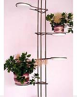 Подставка под цветы пол-потолок (хромированная), фото 1