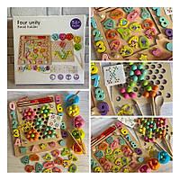 Большой набор для занятий мозаикой Цифры и  Рыбалка Fun Toys MD 2450/2711