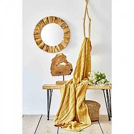 Плед вязанный Karaca Home - Sofa hardal горчичный 130*170