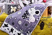 Полотенце для кухни, цвет серый с ярким рисунком 74х34