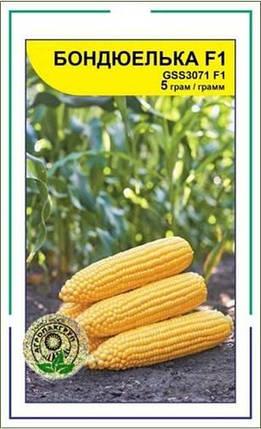 Семена кукурузы Бондюелька F1 / ГСС 3071 F1, 5 г — ранняя сахарная кукуруза, суперсладкая. Syngenta, фото 2