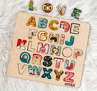 Азбука-сортер Embi для дітей з картинками 40x36,5х1см Англійська Алфавіт