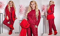 Женский пижамный набор жилетка, сапожки и пижама брючная для полных женщин