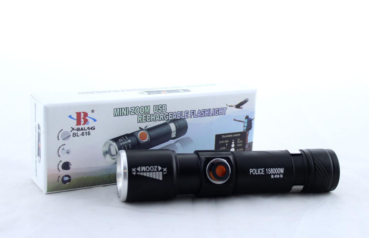 Дуже яскравий ліхтарик BL-616 CREE T6, A404