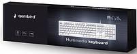 Клавиатура проводная Gembird KB-MCH-03-W-RU Slim USB white, фото 4