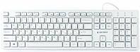 Клавиатура проводная Gembird KB-MCH-03-W-RU Slim USB white, фото 3