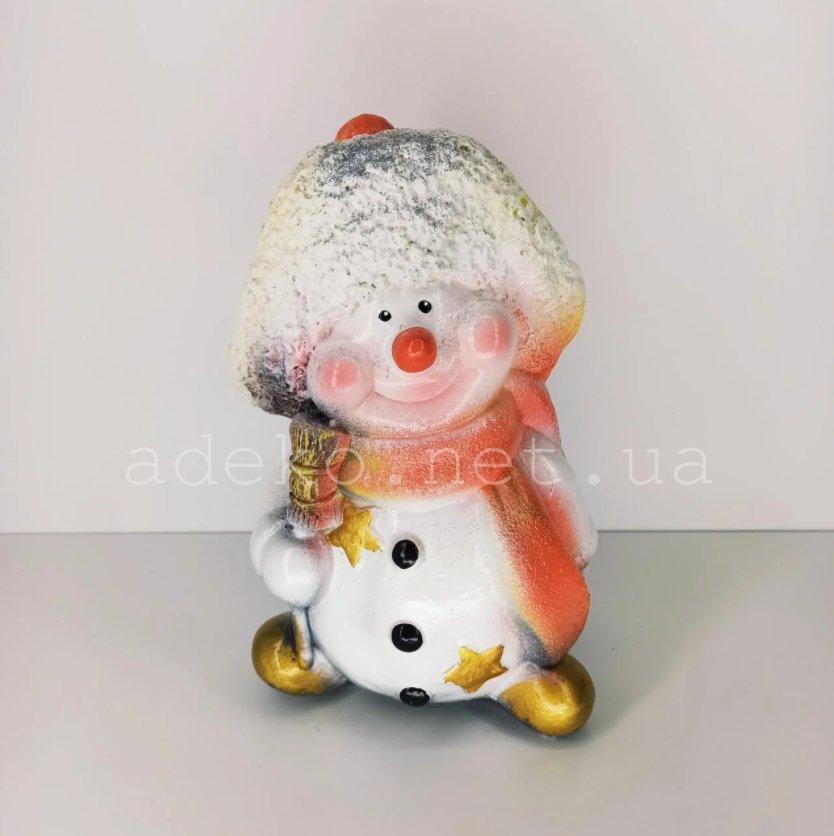 Скарбничка Сніговик в шапочці 28 см