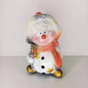 Копилка Снеговик в шапочке 28 см