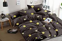 Полуторный комплект постельного белья 150*220 сатин (15954) TM КРИСПОЛ Украина