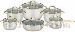 Набір посуду з нержавіючої сталі Bohmann BH 1212 PG 12
