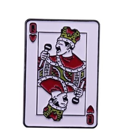Брошь брошка пин значок металл рок-группа Queen Квин Фредди Меркьюри Freddie Mercury карта