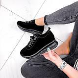 Кроссовки женские Morus черные 2898, фото 3