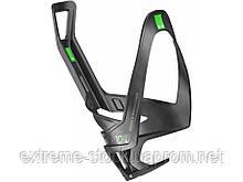 Флягодержатель Elite Rocko Carbon, чорно-зелений, карбоновий
