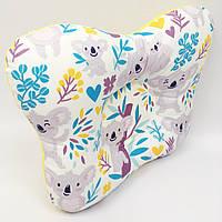 Подушка ортопедическая типа бабочка для новорожденных Sindbaby из ткани Коалы 01-ПО-23, КОД: 1315304