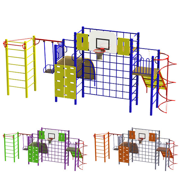 """Великий Гімнастичний комплекс """"Акробат"""" DIO674 для спортивної і дитячої площадки."""