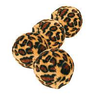 Набор мячиков меховых Trixie, леопард, 3,5см, 4шт