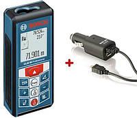 Дальномер лазерный Bosch GLM 80 + Автозарядное Micro USB (06159940B3)