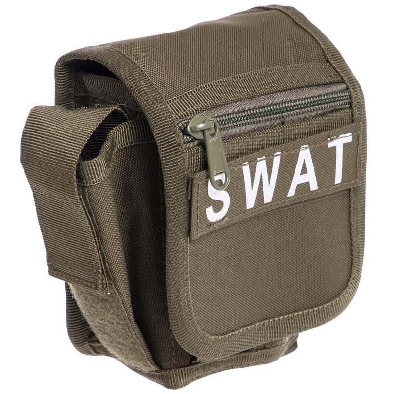 Сумка тактическая на пояс оливковая SWAT