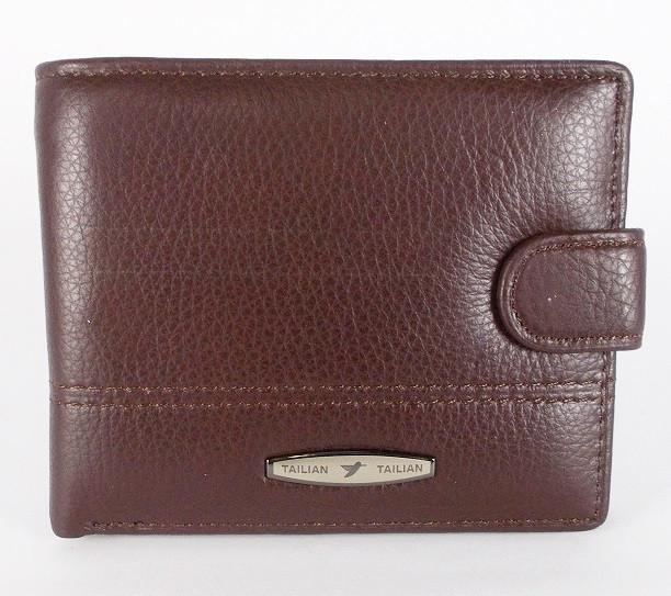 Мужской кожаный кошелек Tailian Т157D-12Н коричневый