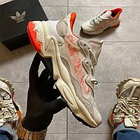 Adidas Ozweego Adiprene White/Orange (Белый Оранжевый)