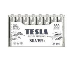 """Первинні елементи та первинні батареї, циліндричної форми, лужні """"TESLA BATTERIES"""" AAA SILVER+24M"""