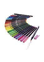 Набір кольорових фломастерів (24шт) Crelando 16х1см Різнобарвний