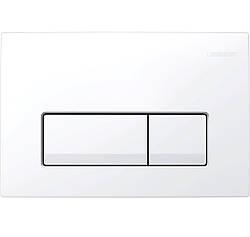 DELTA51 смывная клавиша, двойной смыв, пластик, белый
