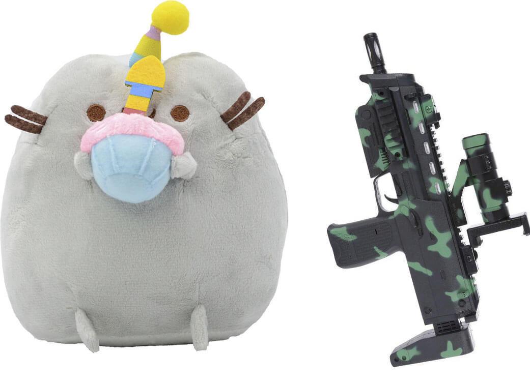 Комплект М'яка іграшка кіт з кексом Pusheen cat і Автомат доповненої реальності (n-706)