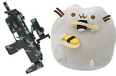 Комплект Мягкая игрушка кот с суши Pusheen cat и Автомат дополненной реальности (n-713)