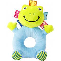Мягкая игрушка-погремушка Лягушка Lindo (F 1002)