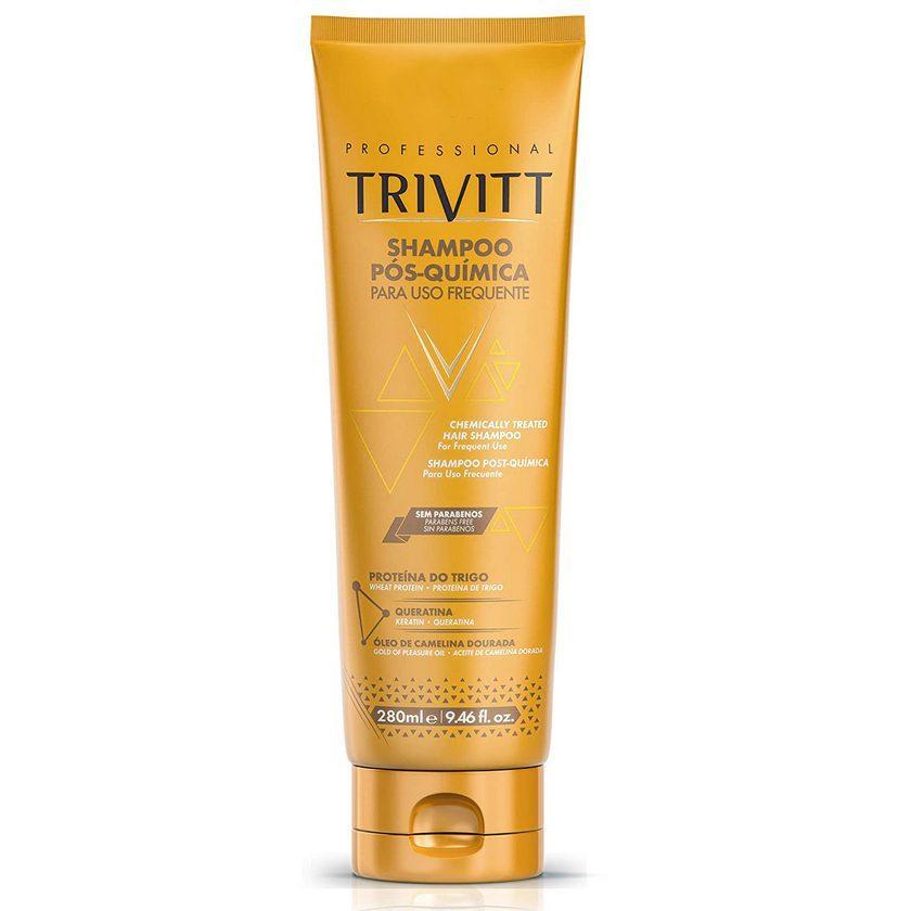 Відновлюючий шампунь для фарбованого та пошкодженого волосся Trivitt Chemically Treated Hair Shampoo 280ML