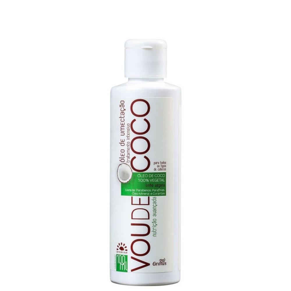 Масло кокосовое для восстановления волос Griffus Vou de Coco Oleo Umectante 100ml