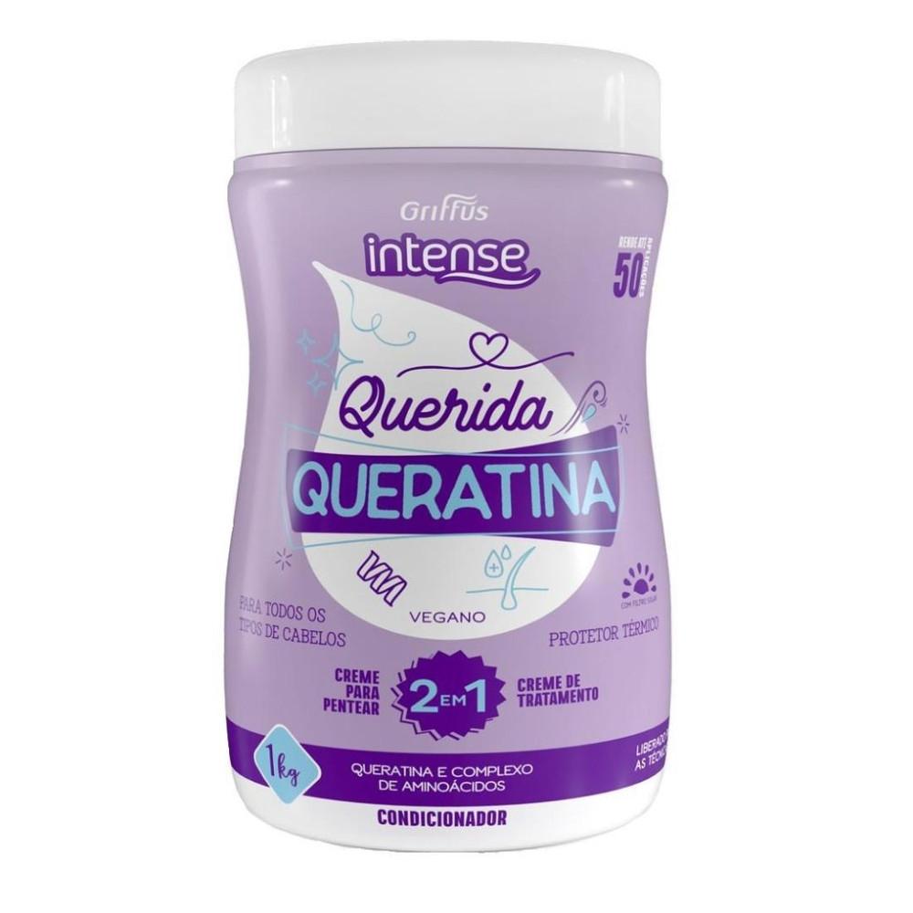 Маска-сыворотка 2в1  для волос с кератином Griffus Mascara Hidratacao Queratina 1000 g