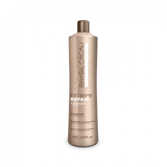 Шампунь для екстремального відновлення Cadiveu Brasil Cacau Extreme Repair Shampoo 1000 ml