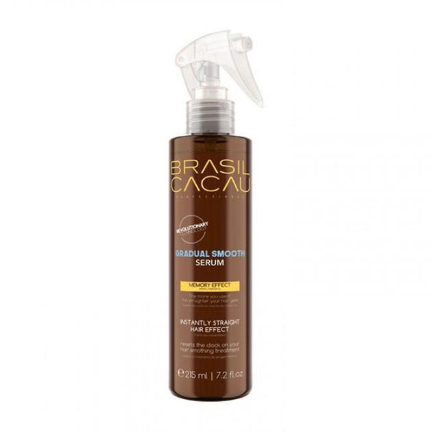 Термоактивна випрямляючий сироватка для волосся Cadiveu Brasil Cacau gradual smooth serum 215ml